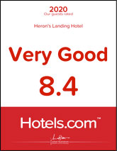 2020 Our Guests Rated Heron's Landing Hotel Very Good 8.4